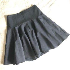 Pink Tartan Fit and Flare Wool Blend Skirt